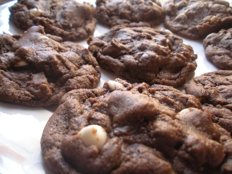 Choc White Choc Chunk Cookies