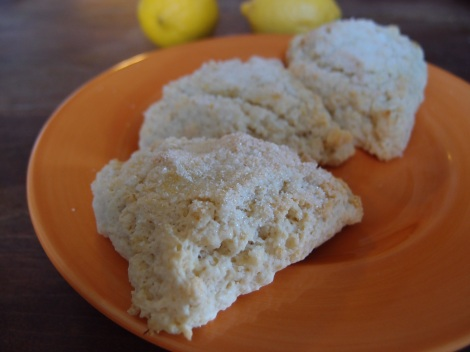 Lemon Coconut Yogurt Scones