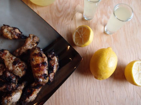 Limoncello Grilled Wings